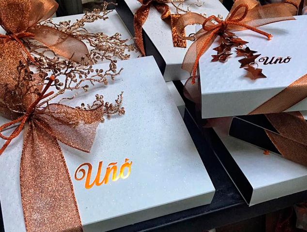 Caixes regal de la patisseria Uñó