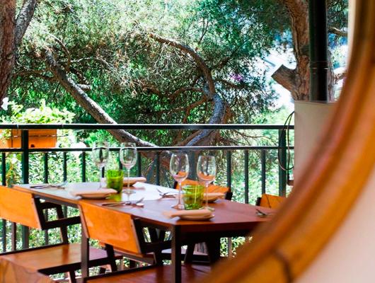 Una imatge del restaurant Els Garrofers d'Alella