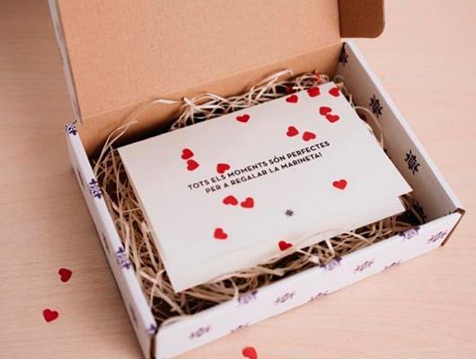 Una de les caixes regal del restaurant La Marineta