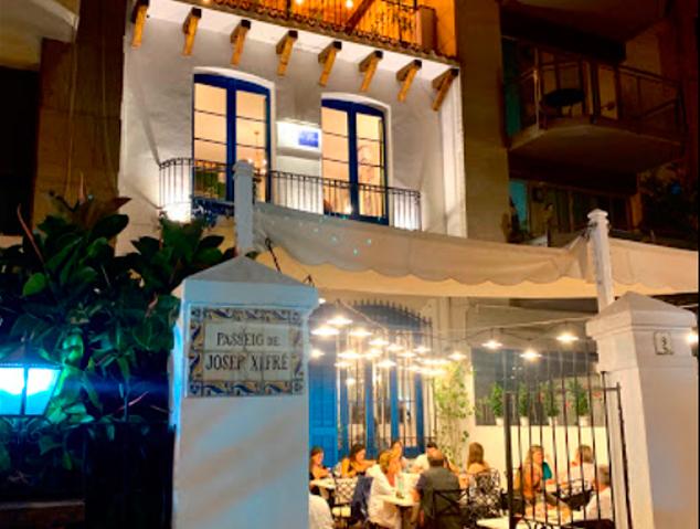 Terrassa del restaurant Blau de Mar a Alella