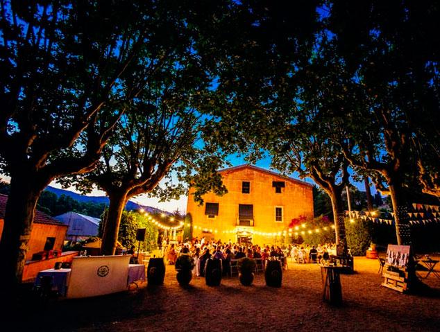 Terrassa del restaurant Can Cabus a Alella