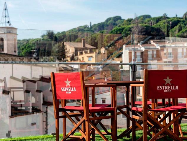 Terrassa del restaurant Dynamic de Caldes d'Estrac