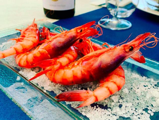 Gambes d'Arenys del restaurant Blau de Mar de Arenys de Mar