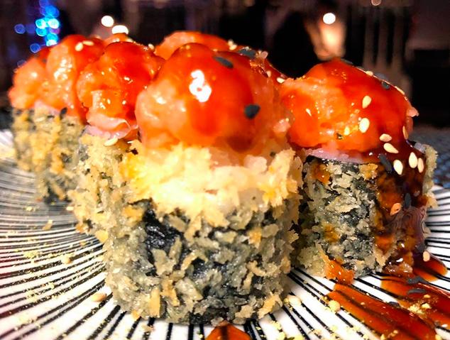 Un dels makis del restaurant Sushi Ra de Premià de Mar