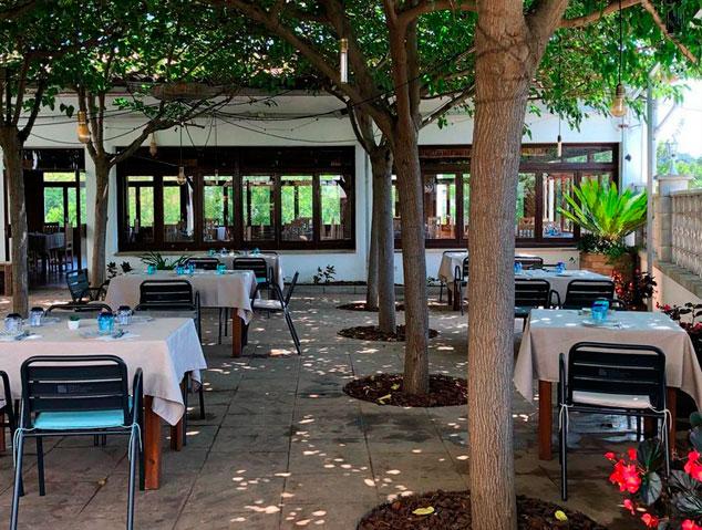 Terrassa del restaurant Nou Gras de Cabrils