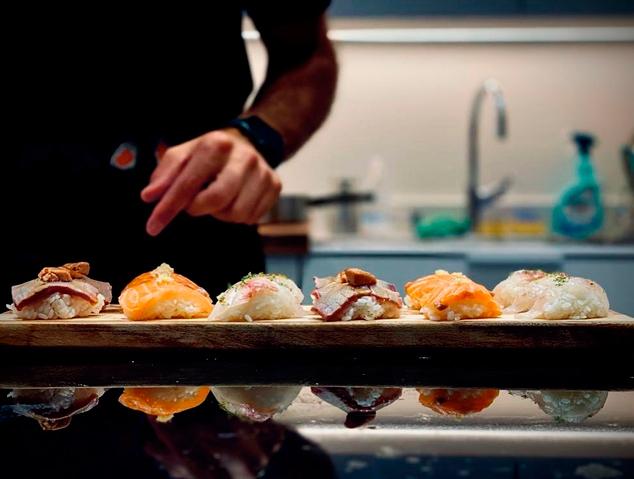 Plats de sushi del xef Carles Nogués
