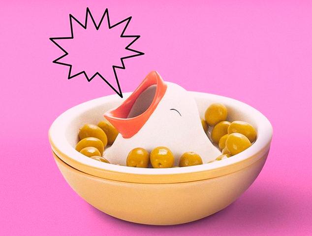 Un plat divertit per les olives