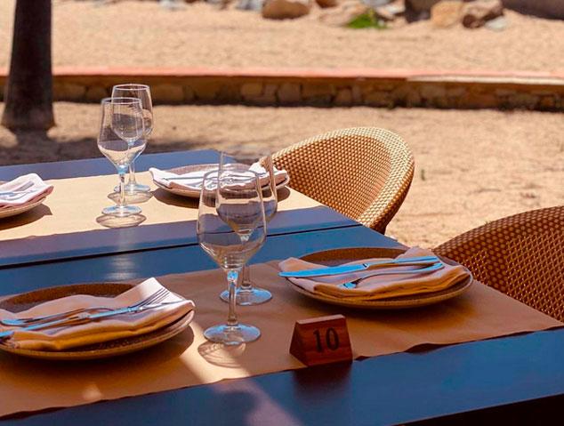 Menjador del restaurant Ostres..Del mar al plat