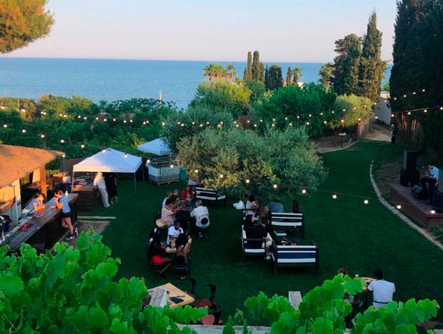 Terrassa amb vistes al mar del Mutxo Maresme