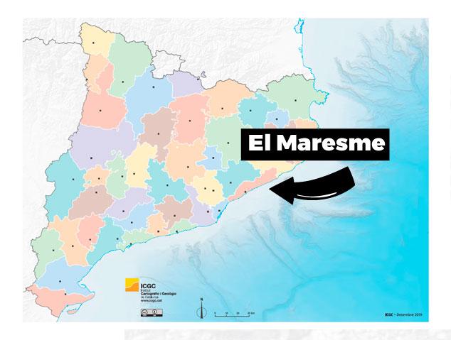 Mapa del Maresme